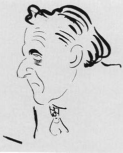 Caricatura de Ramiro de Maeztu