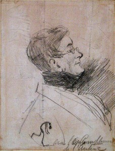 William Makepeace Thackeray - 1811-1863 - Self Portrait